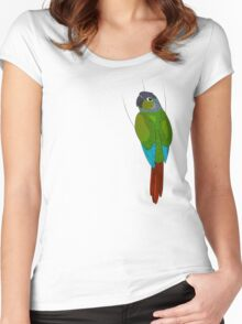 Green-Cheeked Conure Women's Fitted Scoop T-Shirt