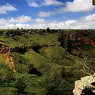 Werribee Gorge Landscape View by Stephen Ruane