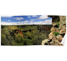 Werribee Gorge Landscape View Poster