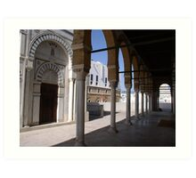 A mosque in medina of Tunis Art Print