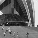 Sydney Opera House Study in Black & White (pt2) by Janie. D
