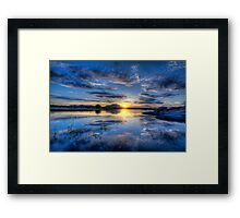 Willow lake Blue Framed Print
