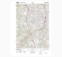 Massachusetts  USGS Historical Topo Map MA Lawrence 20120606 TM One Piece - Long Sleeve