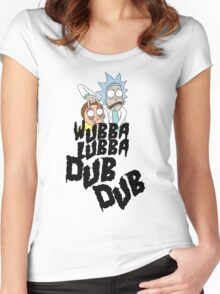 Wubba Lubba Dub Dub Women's Fitted Scoop T-Shirt