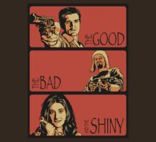 The Good, The Bad and The Shiny (Firefly / Serenity mashup) T-Shirt