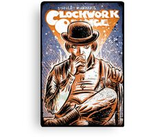 A Clockwork Orange Art Stanley Kubrick Malcolm McDowell Patrick Magee Michael Bates joe badon movie sci fi science fiction Canvas Print