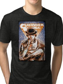 A Clockwork Orange Art Stanley Kubrick Malcolm McDowell Patrick Magee Michael Bates joe badon movie sci fi science fiction Tri-blend T-Shirt
