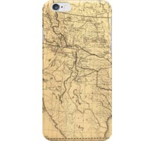 Map of the Trans-Mississippi Between 1807 and 1843 iPhone Case/Skin