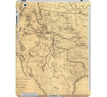 Map of the Trans-Mississippi Between 1807 and 1843 iPad Case/Skin