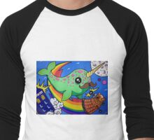 Narwhal in Space Men's Baseball ¾ T-Shirt