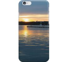 Sea Sunset with Boat in Harbour iPhone Case/Skin