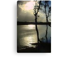 Silver Sunset Canvas Print