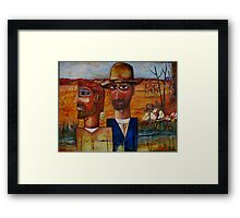 BOURKE AND WILLS AT COOPERS CREEK Framed Print