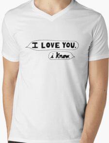 I Love You, I Know - Star Wars Mens V-Neck T-Shirt