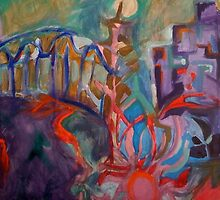 Sydney In Abstract by Anthea  Slade