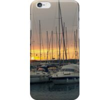 Sunset with Sailboats Horizontal iPhone Case/Skin