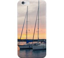 Sunset with Sailboats Vertical iPhone Case/Skin