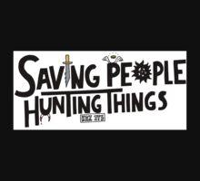 Saving People, Hunting Things - Supernatural One Piece - Long Sleeve