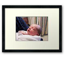 My brand new grand-daughter Framed Print