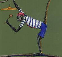 Cymbal Playing Monkey by Susie a'Beckett
