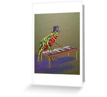 Fantastic Piano Player Greeting Card