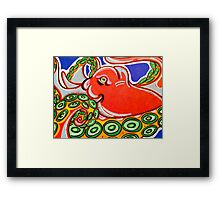 Red Octopus  Framed Print