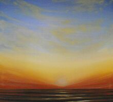 Sunsetting over the Sea by Cherie Roe Dirksen