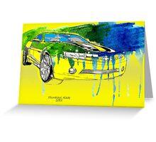 Bumblebee Transformers Cavarro Car Greeting Card