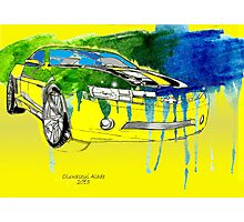 Bumblebee Transformers Cavarro Car Photographic Print