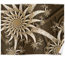 Marble Daisies Poster