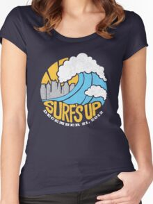 Surf's Up - End of the World Women's Fitted Scoop T-Shirt