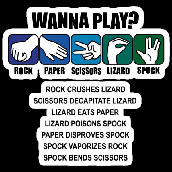Rock Paper Scissors Lizard Spock by DetourShirts