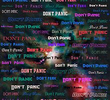 Don't Panic in space by Jarriet