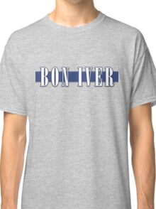 BON IVER - Stripe Logo  Classic T-Shirt