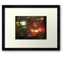 """We commute through the dark and the pouring rain........"" Framed Print"