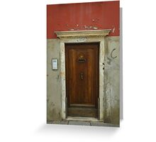 Door in Venice, Italy Greeting Card