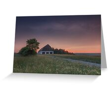 an old barn in Lower Franconia, Germany Greeting Card