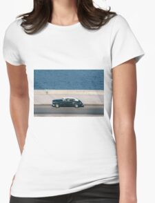 Taxiing along the Malecón Womens Fitted T-Shirt