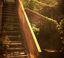 The Courtyard - (Mangiacake Panini Shoppe) by Robin Webster