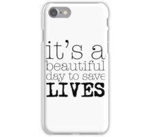 Beautiful day (white) iPhone Case/Skin