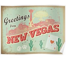 New Vegas Postcard Poster