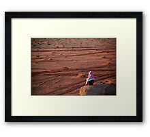 Man contemplating the sunset Framed Print