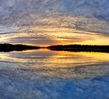 Circular Sunrise - Narrabeen Lakes, Sydney - The HDR Experience by Philip Johnson