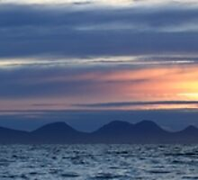 Isle of Jura at Sunset - Panorama by Maria Gaellman