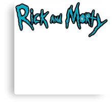 Rick and Morty Logo with Black outlining Canvas Print