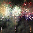 Fire Works Show Stippled Paint Finally FRANCE by Dawnsuzanne