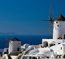Windmills Of Oia by Mark Robson