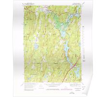 Massachusetts  USGS Historical Topo Map MA Wales 351385 1967 25000 Poster