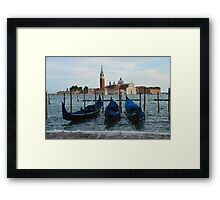 Boats in Grand Canal in Venice, Italy Framed Print