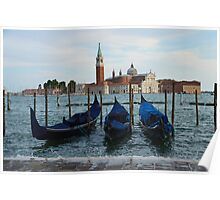 Boats in Grand Canal in Venice, Italy Poster